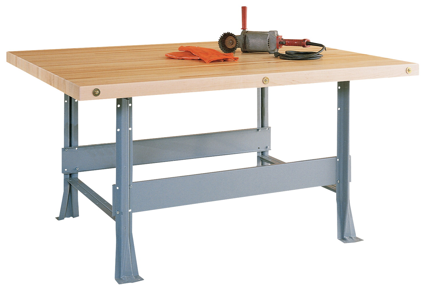 Diversified Woodcrafts 2 Station Workbench with 2 Vises, 64 x 28 x 32-1/4 Inches, Various Options