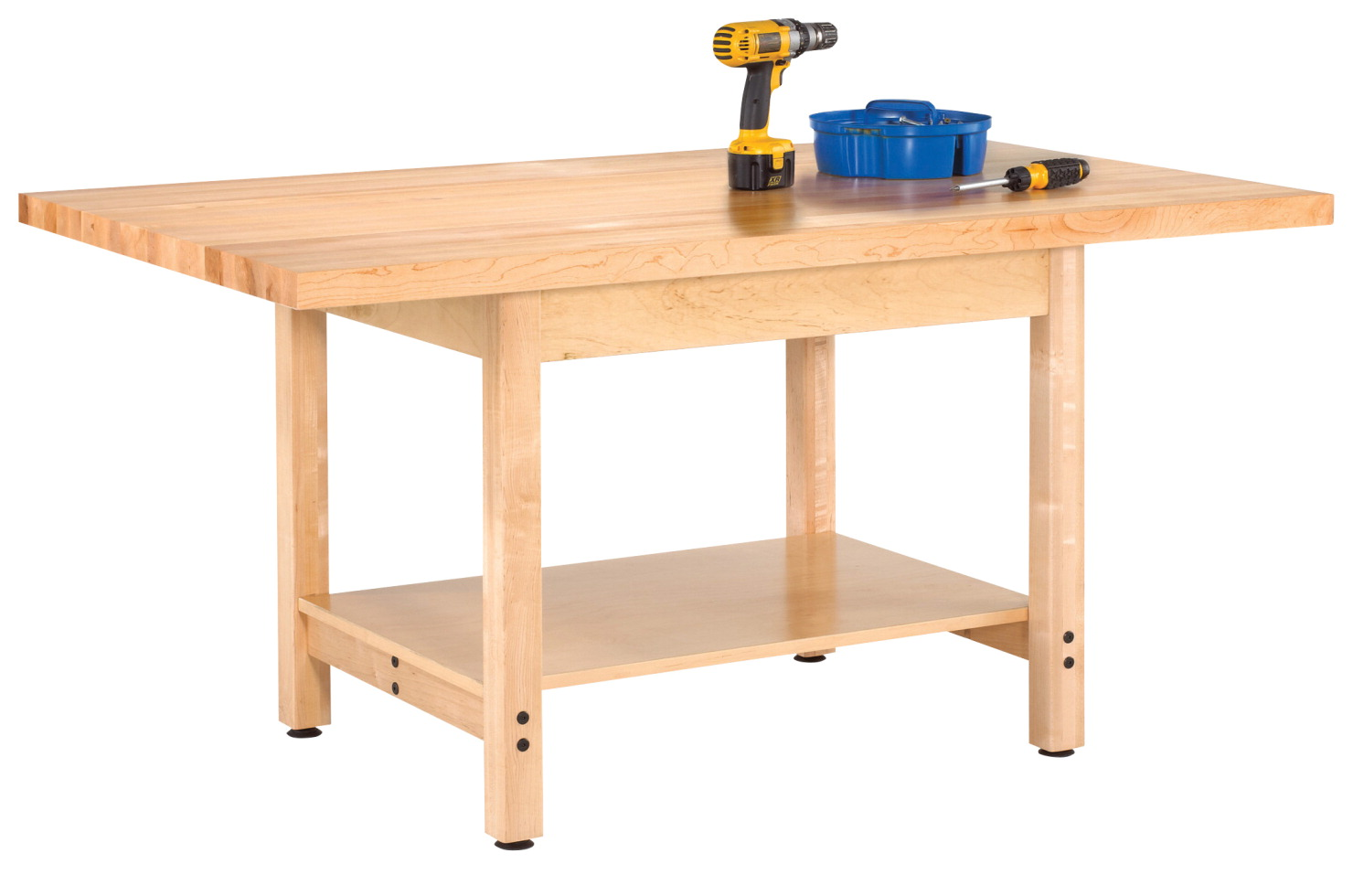 Diversified Woodcrafts Workbench, 72 x 30 x 30-3/4 Inches, Maple Top