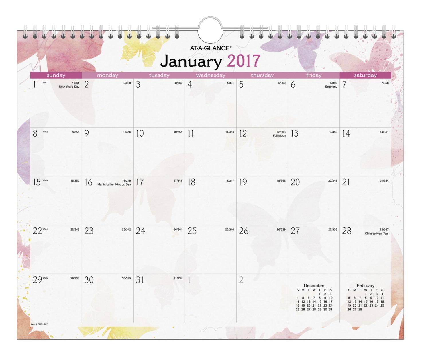 At A Glance Desk Calendar School Specialty Marketplace