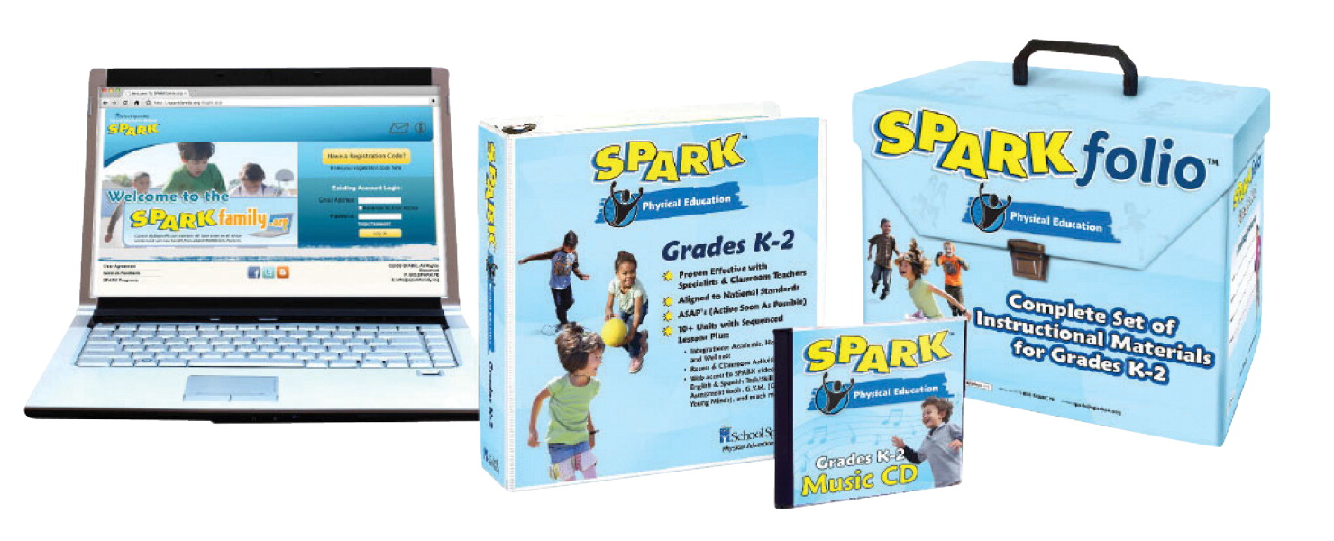 SPARK PE Curriculum Set 3 for Grades K to 2