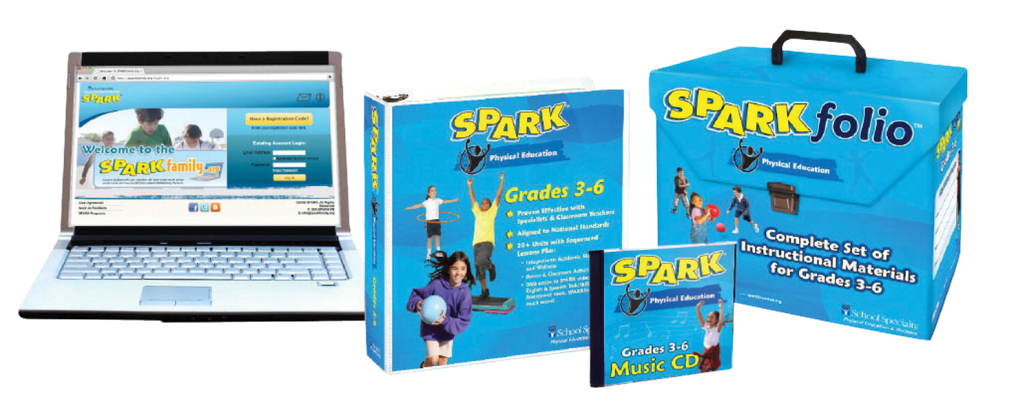 SPARK PE Curriculum Set 3 for Grades 3 to 6