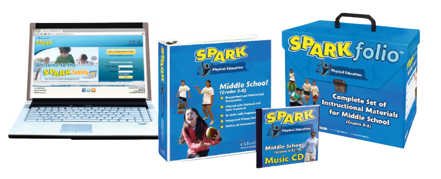 SPARK Middle School PE Curriculum Set 3