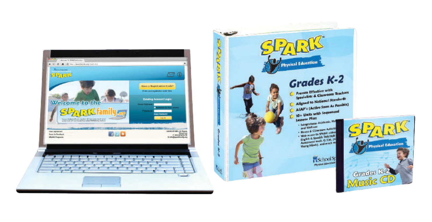 SPARK PE Curriculum Set 2 for Grades K to 2