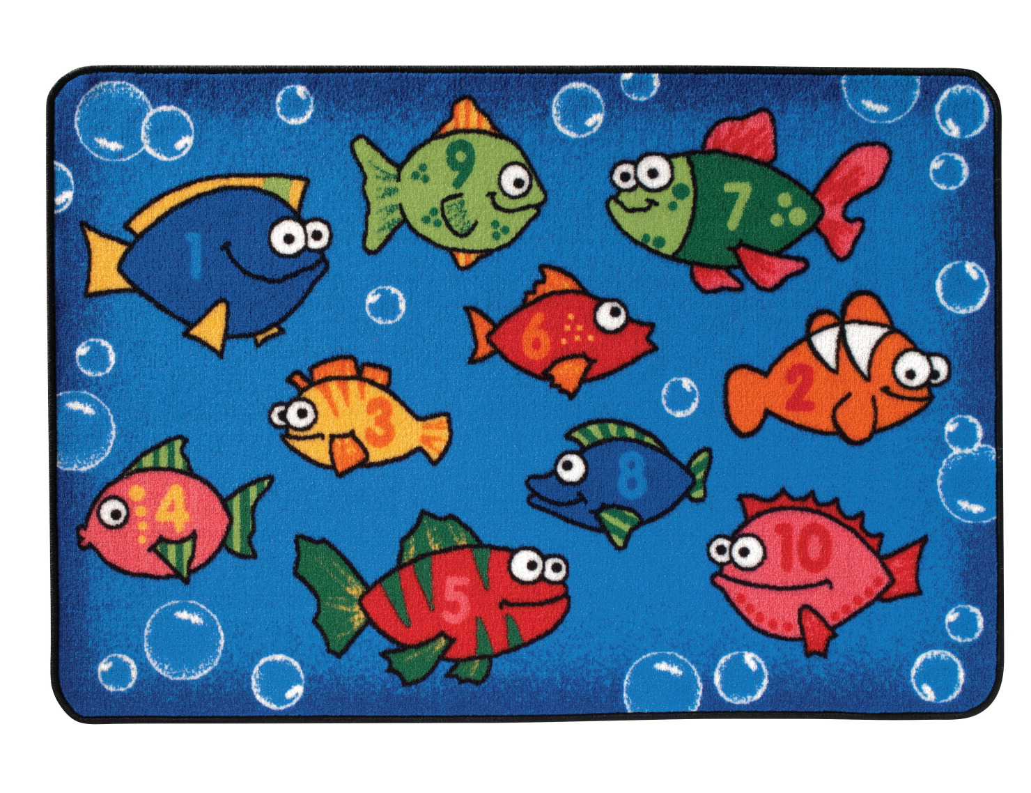 Carpets for Kids Value Line Something Fishy Rug, 3 ft x 4 ft 6 in Rectangle