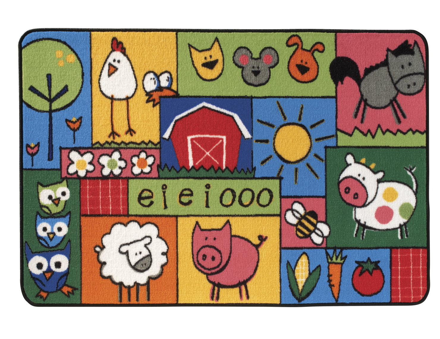Carpets for Kids Value Line Old MacDonald's Farm Rug, 4 x 6 Feet, Rectangle