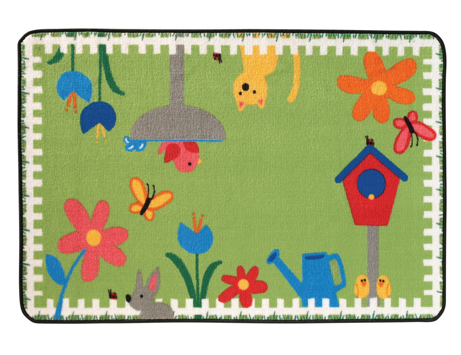 Carpets for Kids Value Line Garden time Rug, 4 x 6 Feet, Rectangle