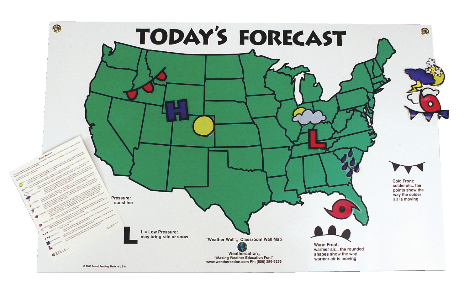 Scott Resources Today's Forecast US Weather Map and Symbols Set