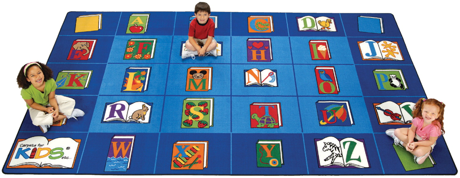 Carpets For Kids Reading by The Book Carpet, 7 Feet 6 Inches x 12 Feet, Rectangle