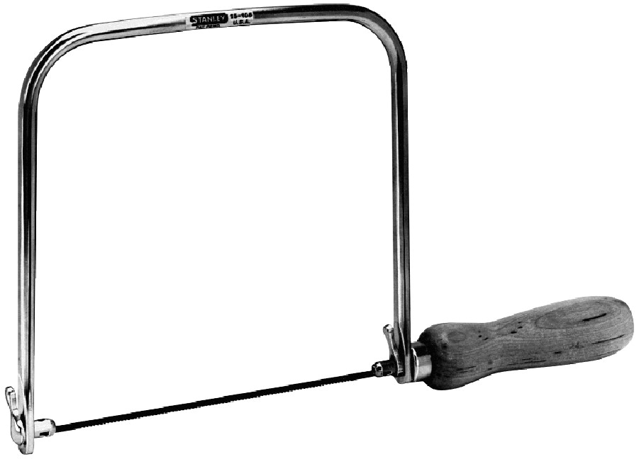 Woodworker's Stanley High Carbon Steel Coping Saw Blade Set, 6-3/4 in D X 6-3/8 in L, Set of 3