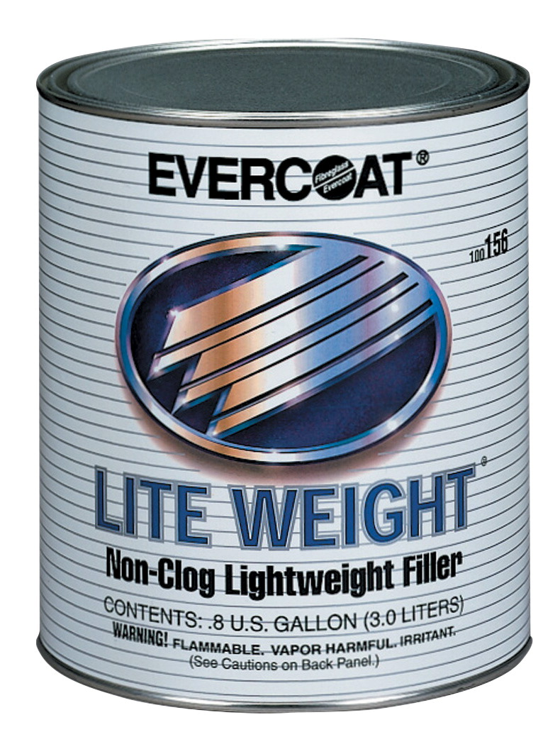 Fibreglass Evercoat Lite Weight Clog Free Light-Weight Body Filler, 3 gal