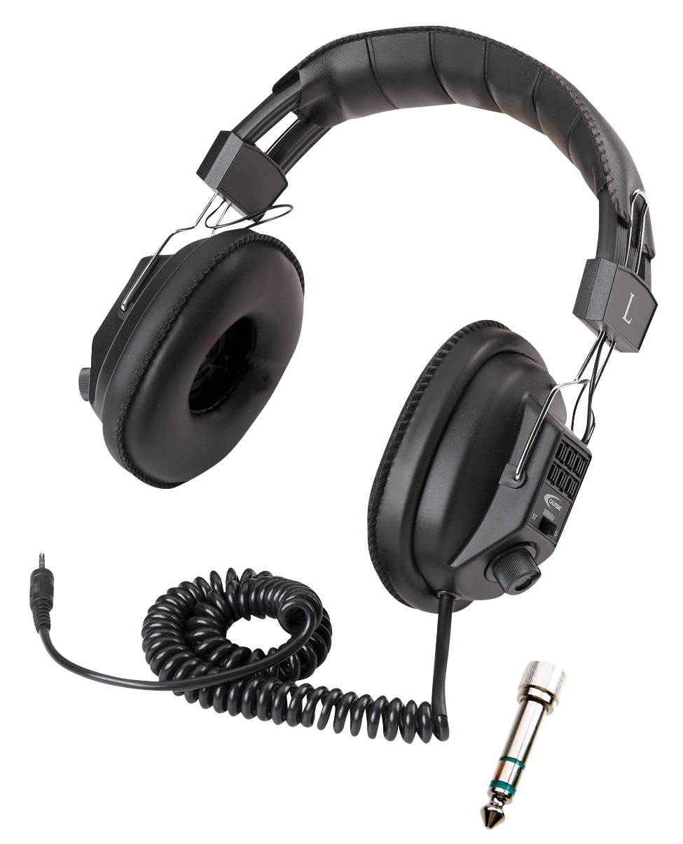 Califone 3068AV Stereo/Mono Headphones, 3.5mm Stereo Plug, Black