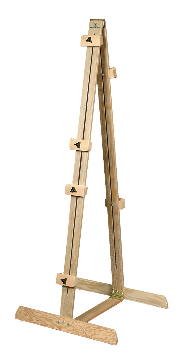 American Easel Double-Sided Neskowin Fir Easel, 70 in H, 24 X 26 in Base