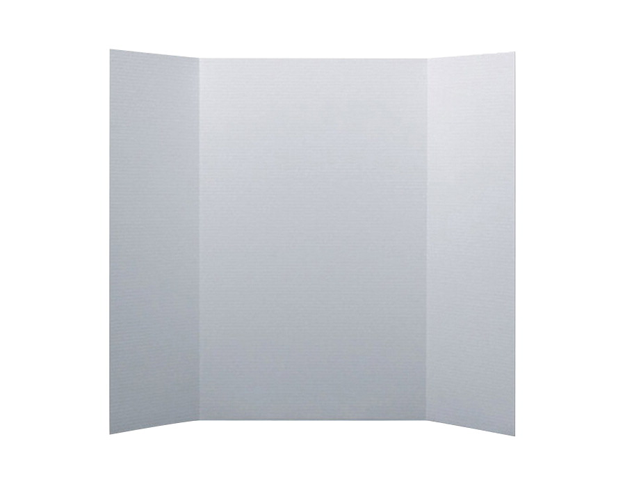 School Smart Presentation Board, 48 x 36 Inches, White, Pack of 10