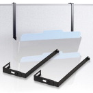 Officemate Metal Adjustable Partition Hanger, 1-1/4 to 3-1/2 Inches, Black