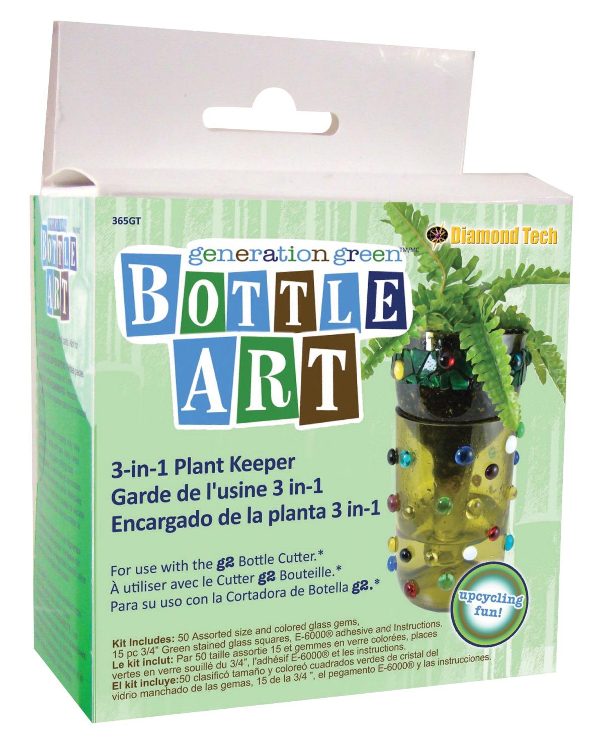 Bottle art plant keeper kit school specialty marketplace for Generation green bottle cutter