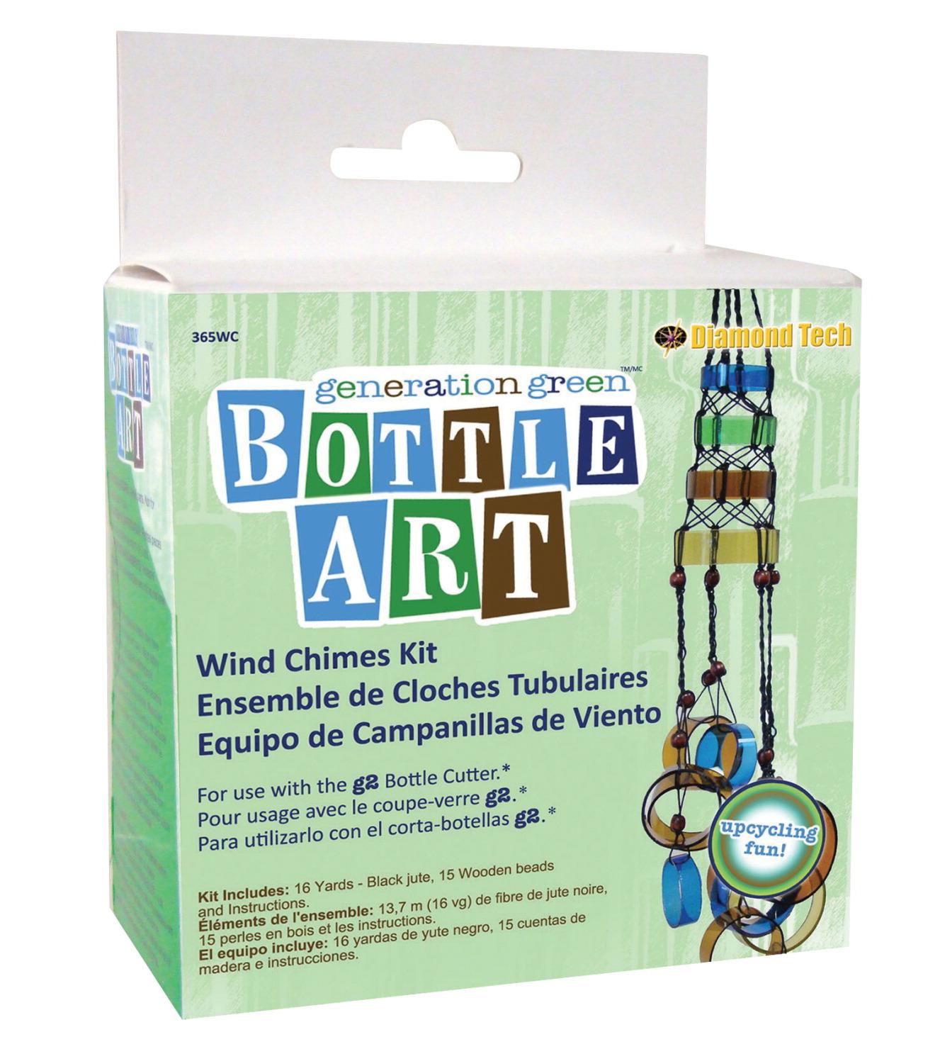 Bottle art wind chime kit school specialty marketplace for Generation green bottle cutter