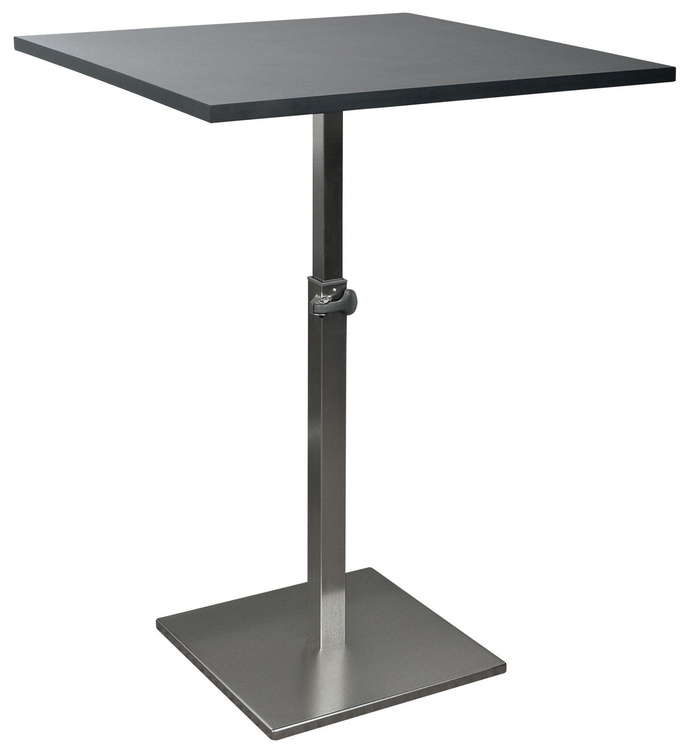 Balt Adjustable Square Height Bistro Table, 31-1/2 Inch, 30 - 43-1/2 Inches High, Black
