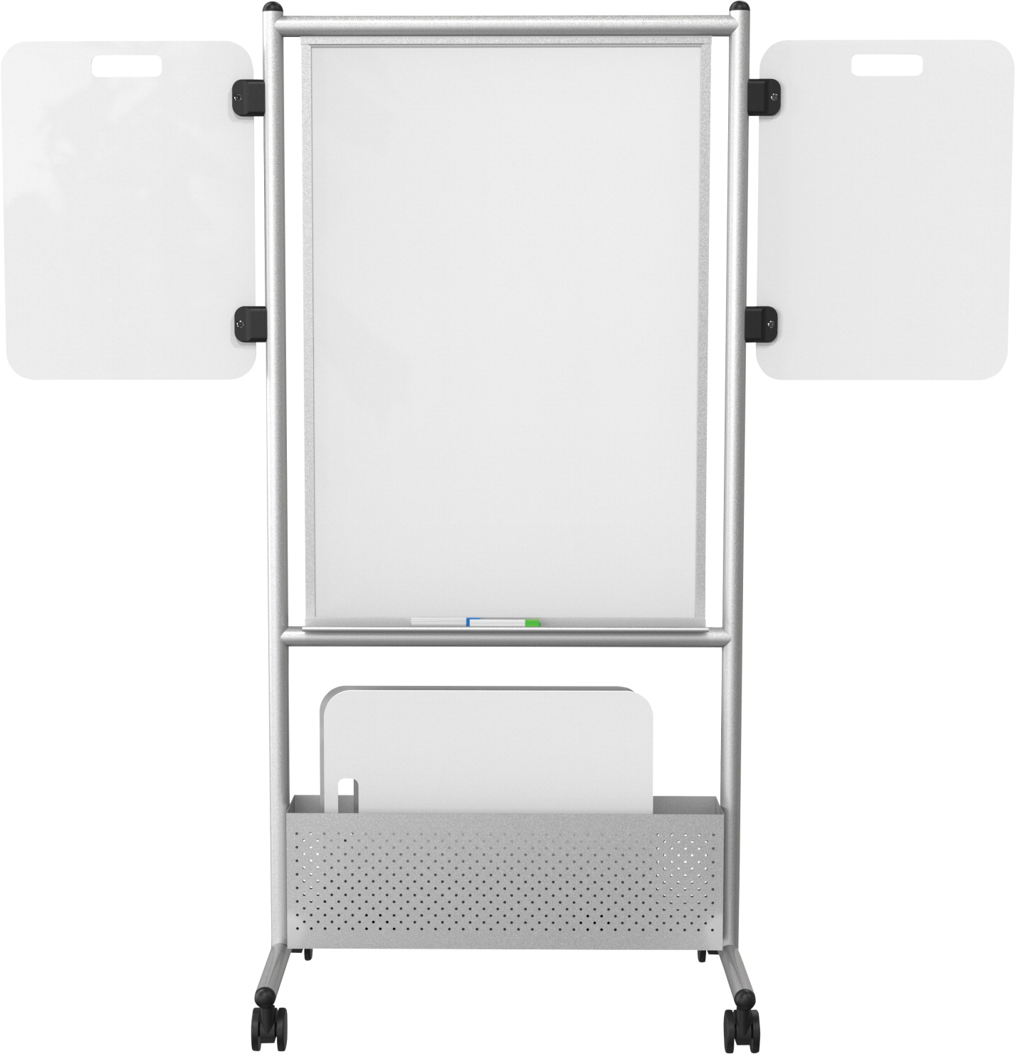 Best-Rite Double-Sided Expanding Nest Magnetic Easel, 34-3/4 x 24 x 72 Inches, Porcelain Steel