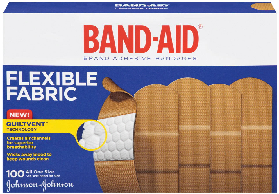 Bandaid Flexible Band-Aid, 1 X 3 inches, Fabric, Pack of 100