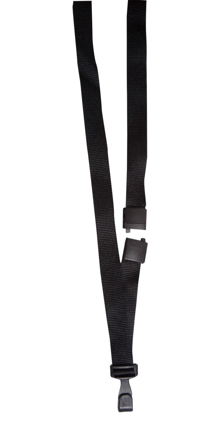 Sicurix Breakaway Safety Lanyard with Plastic Clip, 5/8 X 36 in, PET  Plastic, Pack of 12