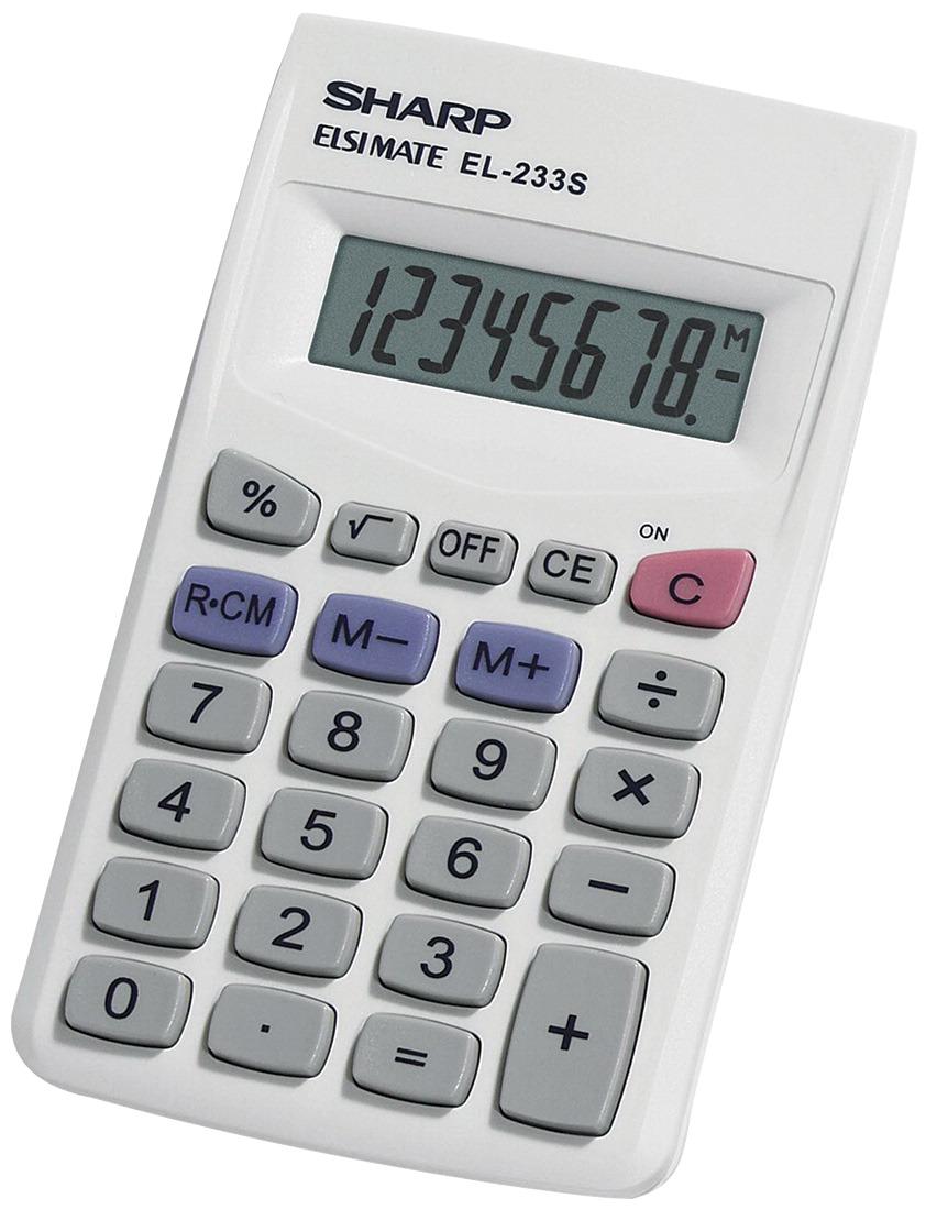 sharp basic calculator white classroom direct. Black Bedroom Furniture Sets. Home Design Ideas