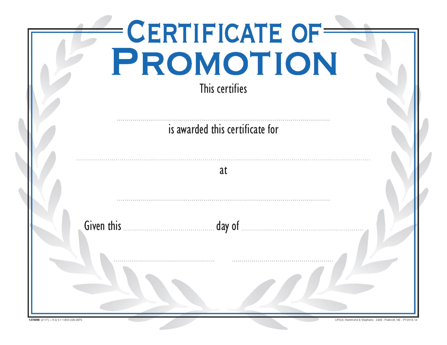 School smart recognition nuline award school specialty for Promotion certificate template