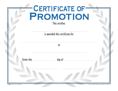 School Smart Raised Print Certificate of Promotion ...