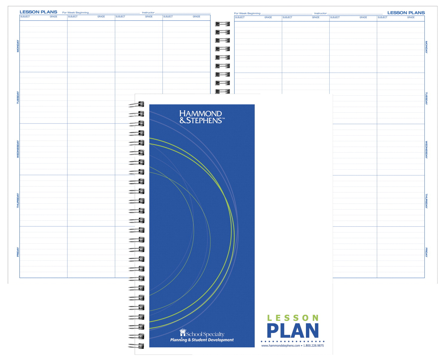 Hammond And Stephens 8 Subject Duplicate 40 Week Lesson Plan Book, 9-1/4 x 12-1/4 Inches