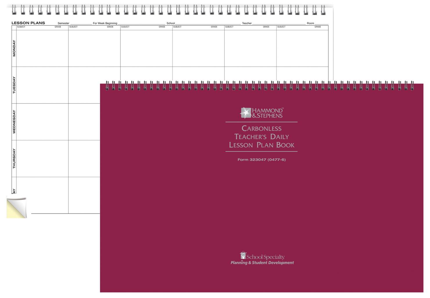 lesson plan book school specialty canada