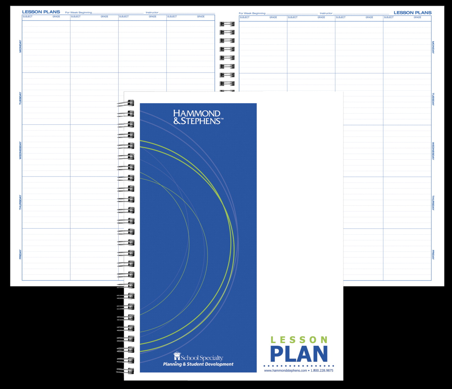 Hammond And Stephens Lesson Plan Book, White-Blue - SCHOOL SPECIALTY ...