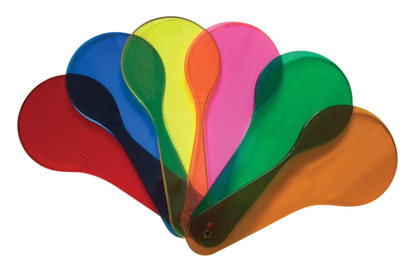 Frey Scientific American Scientific Transparent Color Paddle Set, 6 in, Assorted Color, Set of 18