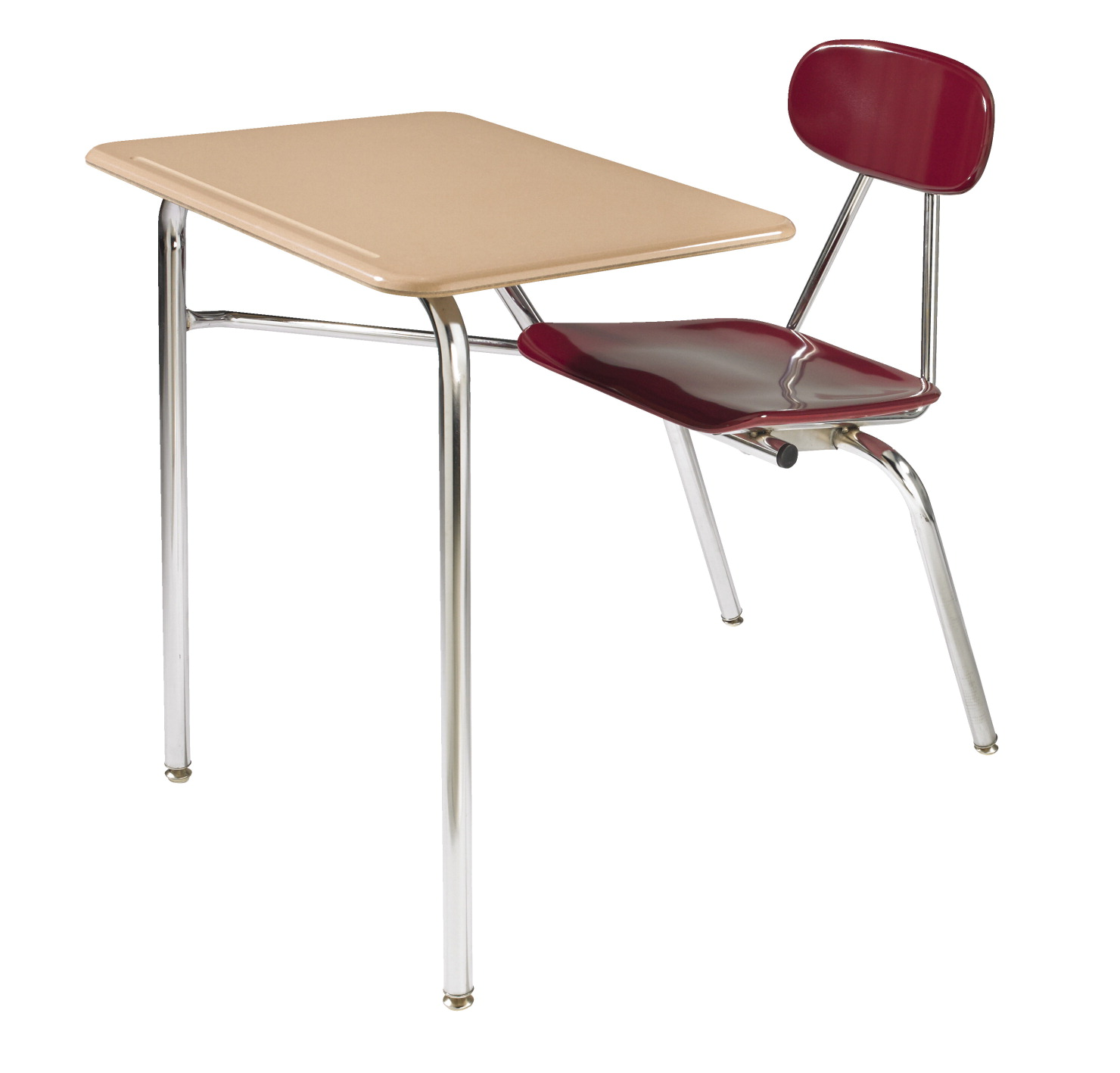 Royal Seating 4400 Combination Hard Plastic Top Desk, 18 x 24 Inch Top,  Chrome Frame, Various Options