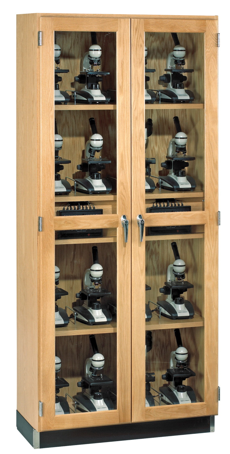 Diversified Woodcrafts Microscope Storage Case, Holds 20 Microscopes, 36 x 16 x 84 Inches