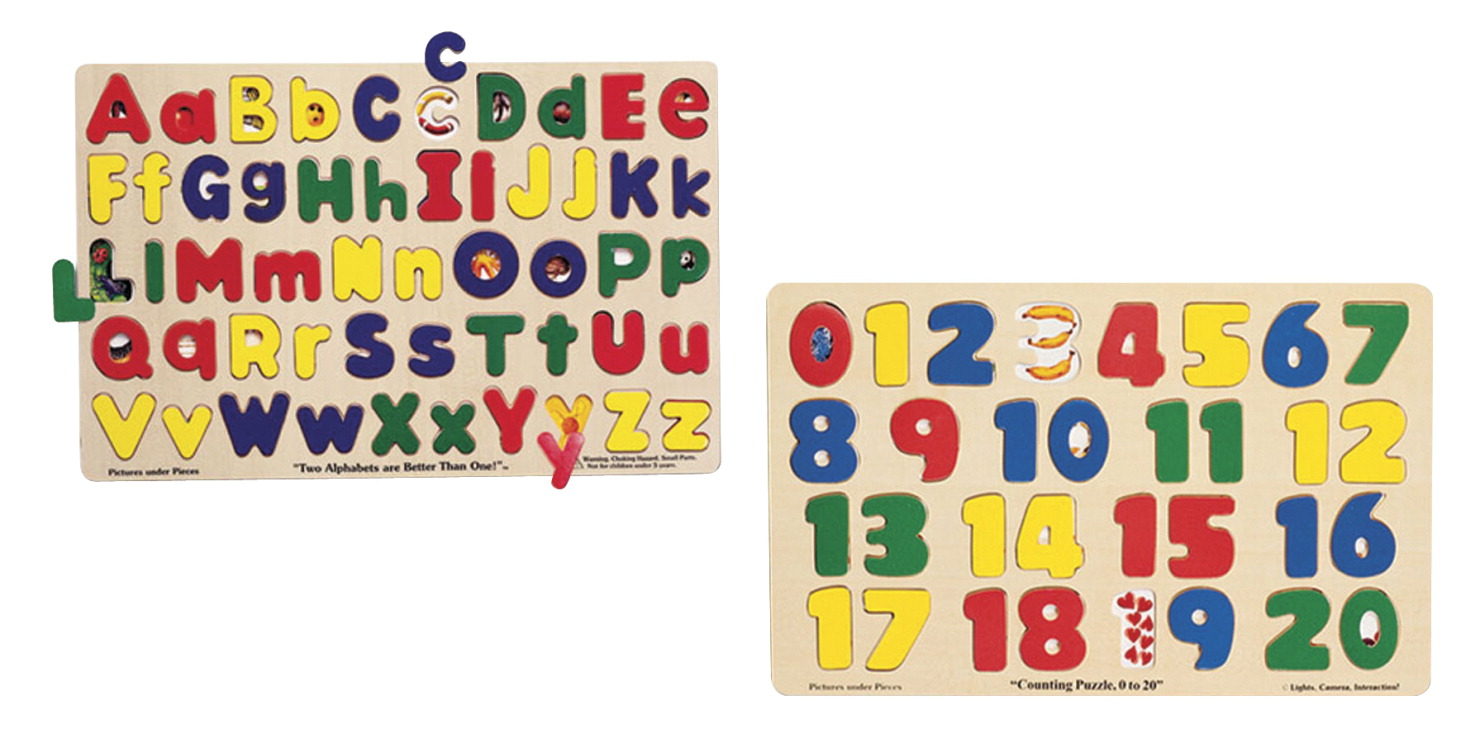 Melissa & Doug Alphabet and Numbers Puzzle Set