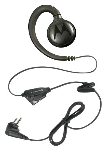 Motorola RLN6423A Swivel Earpiece with Push-to-Talk Mic, Black