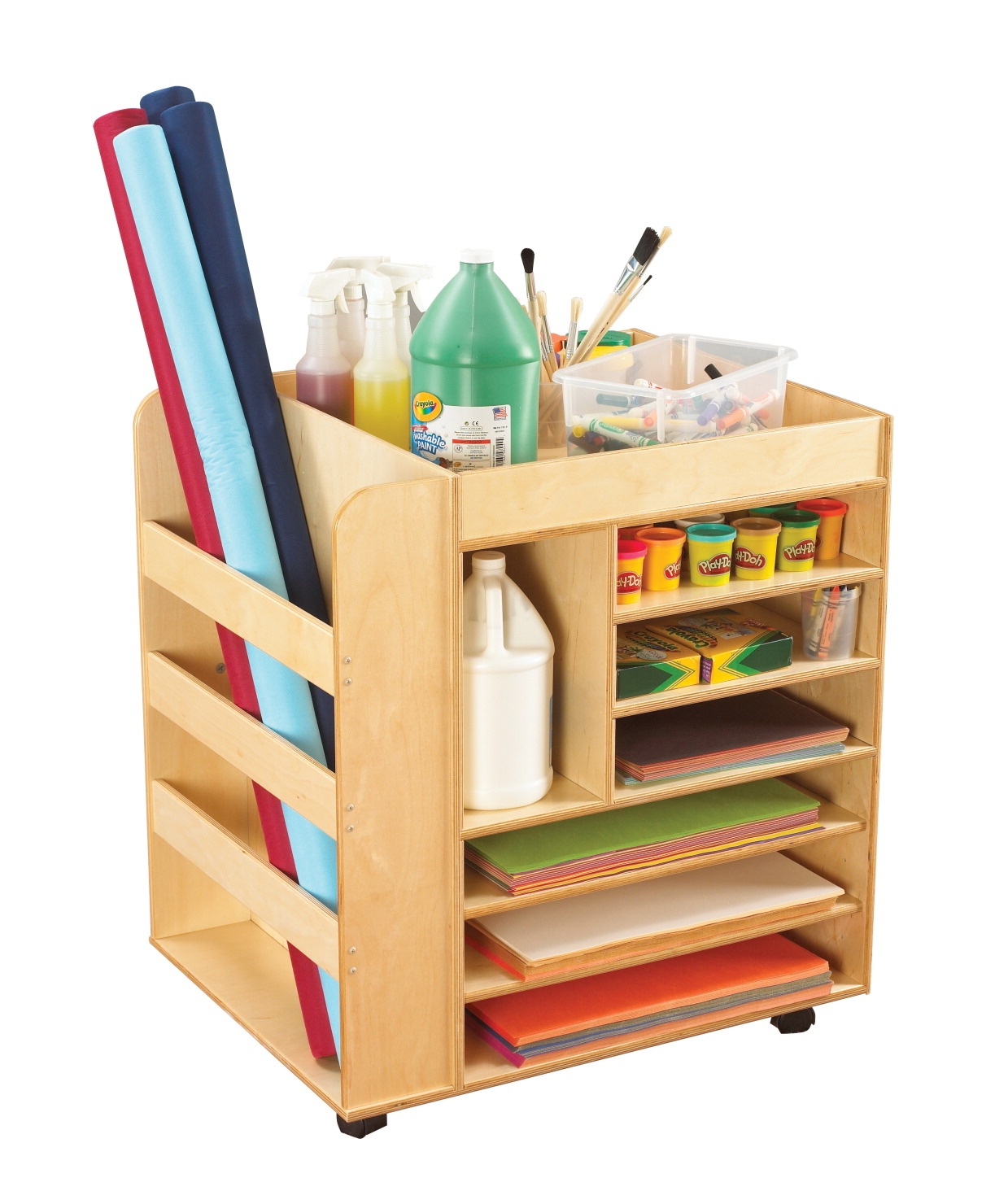 Childcraft mobile art cart school specialty marketplace childcraft mobile art cart 30 w x 24 d x 33 h in sciox Images