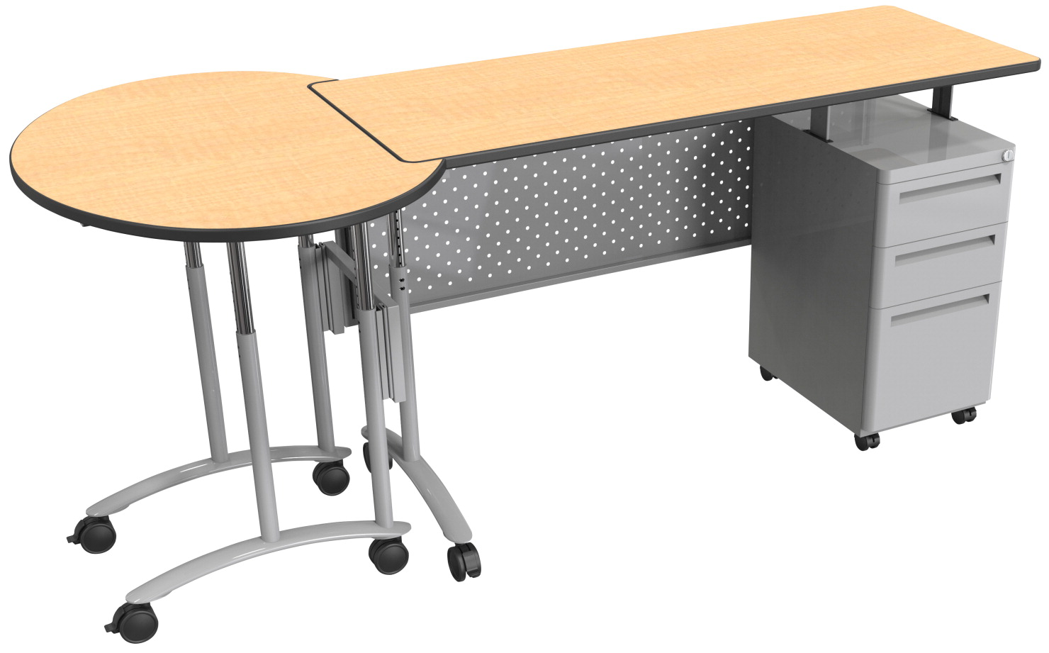 Modular Classroom Desks ~ Modular teacher s desk classroom direct