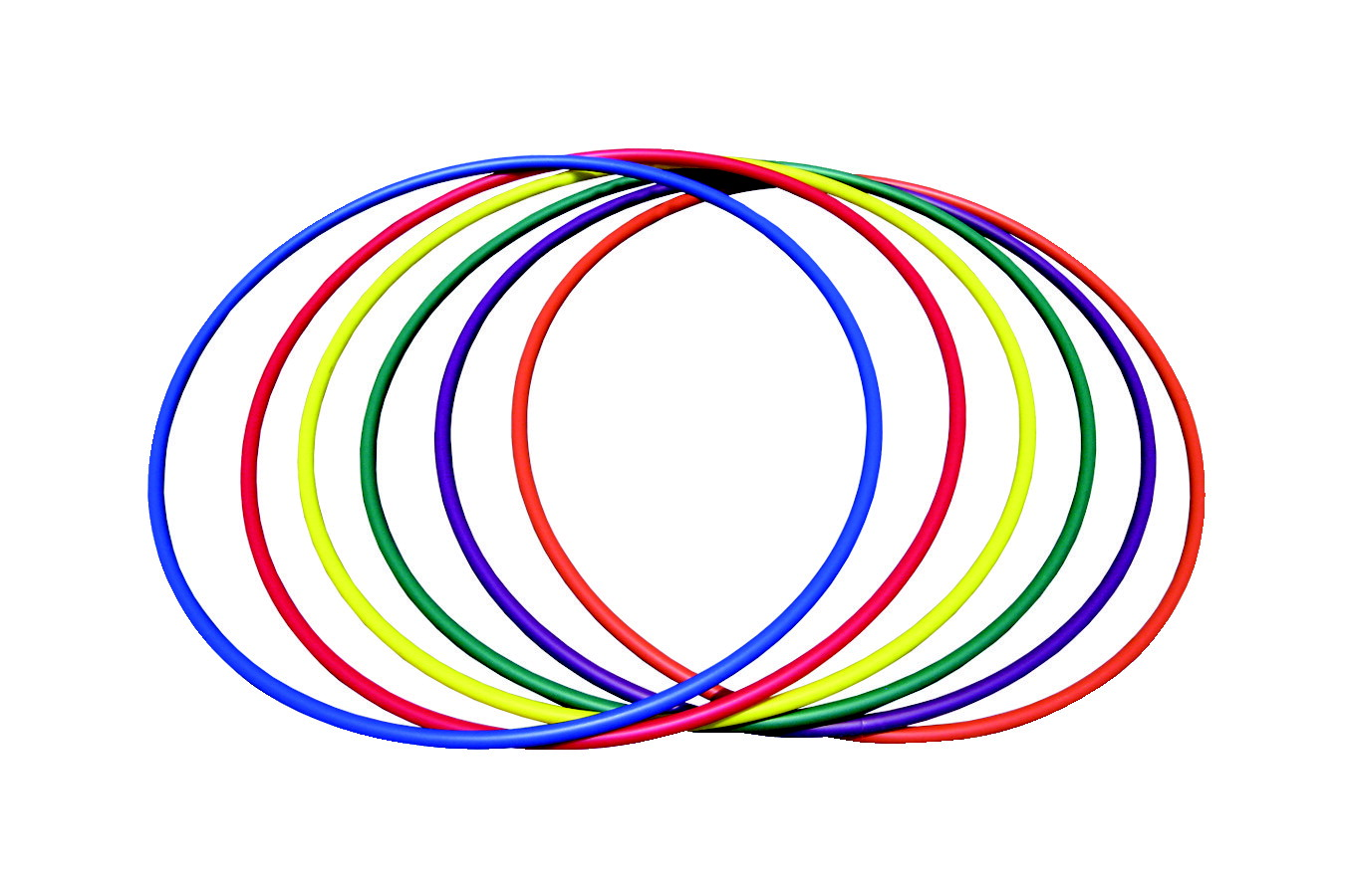 Pull-Buoy Basic Hoops, 36 Inches, Set of 12