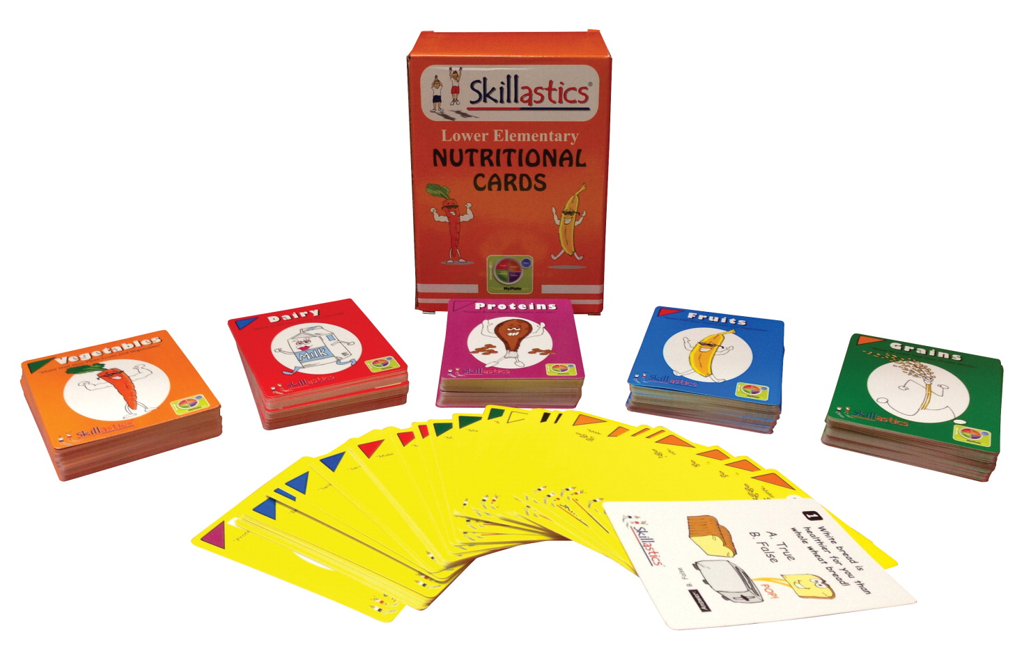 Skillastics Nutritional Cards for Grades 1 to 6, Set of 360 Cards