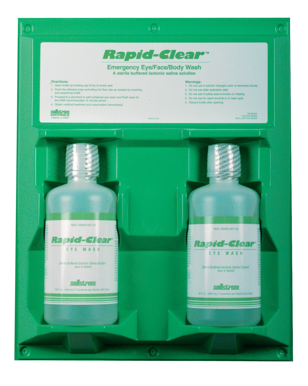 SureWerx Rapid Clear Personal Eye Wash Double - 32 Ounces