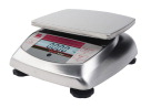 Ohaus Valor 3000 Xtreme Compact Precision Balance, 5-4/5 X 6-1/5 in, 3000 g, Stainless Steel Housing/Pan, 1 g