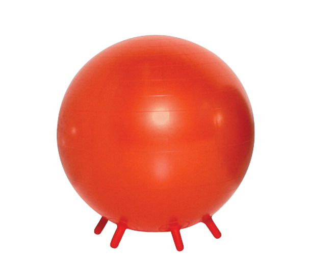 Sportime 21-1/2 in B.R.Q. Ball Chair with Built-in Legs, Orange