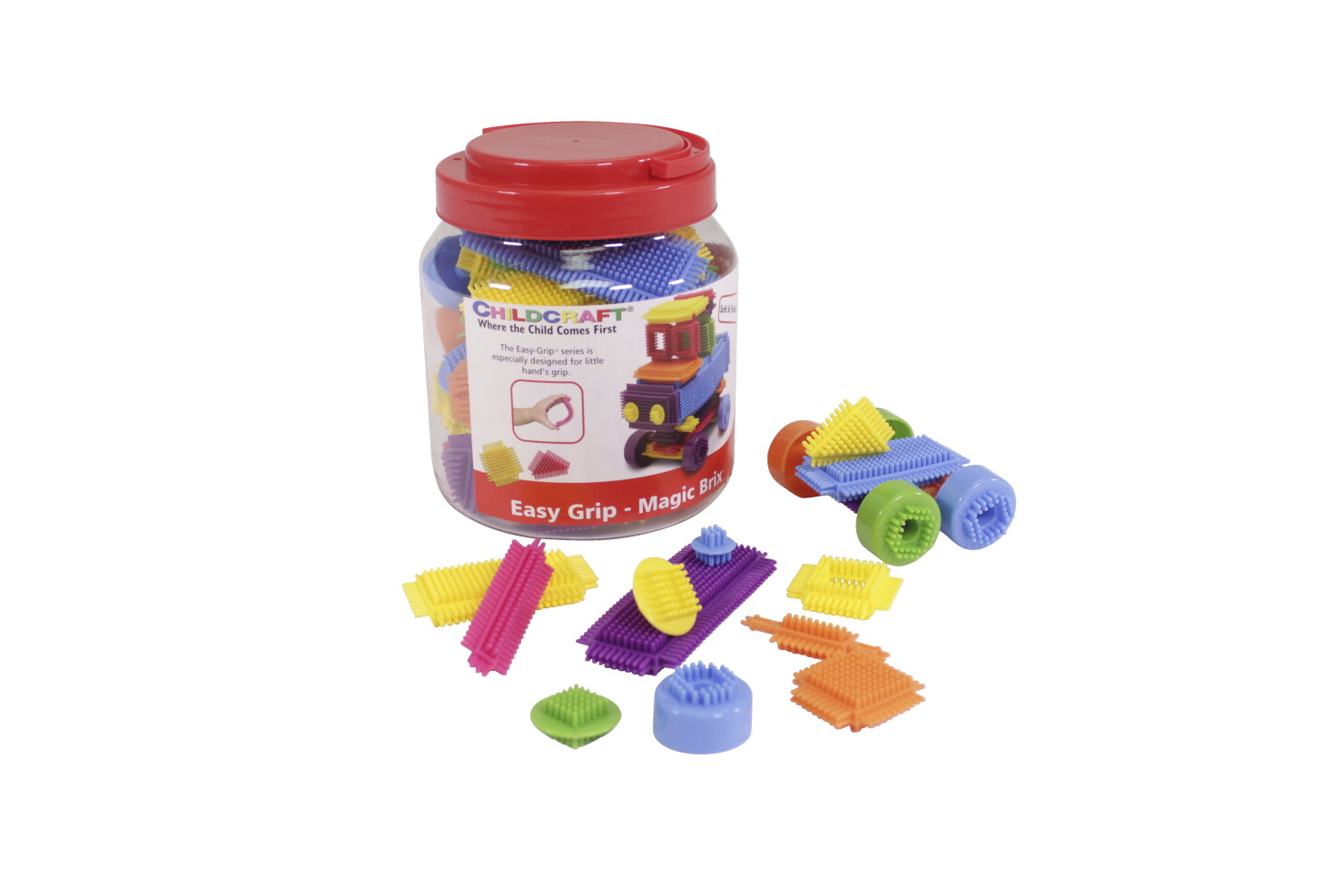 Childcraft Manipulative Magic Brix, Assorted Colors, Set of 72