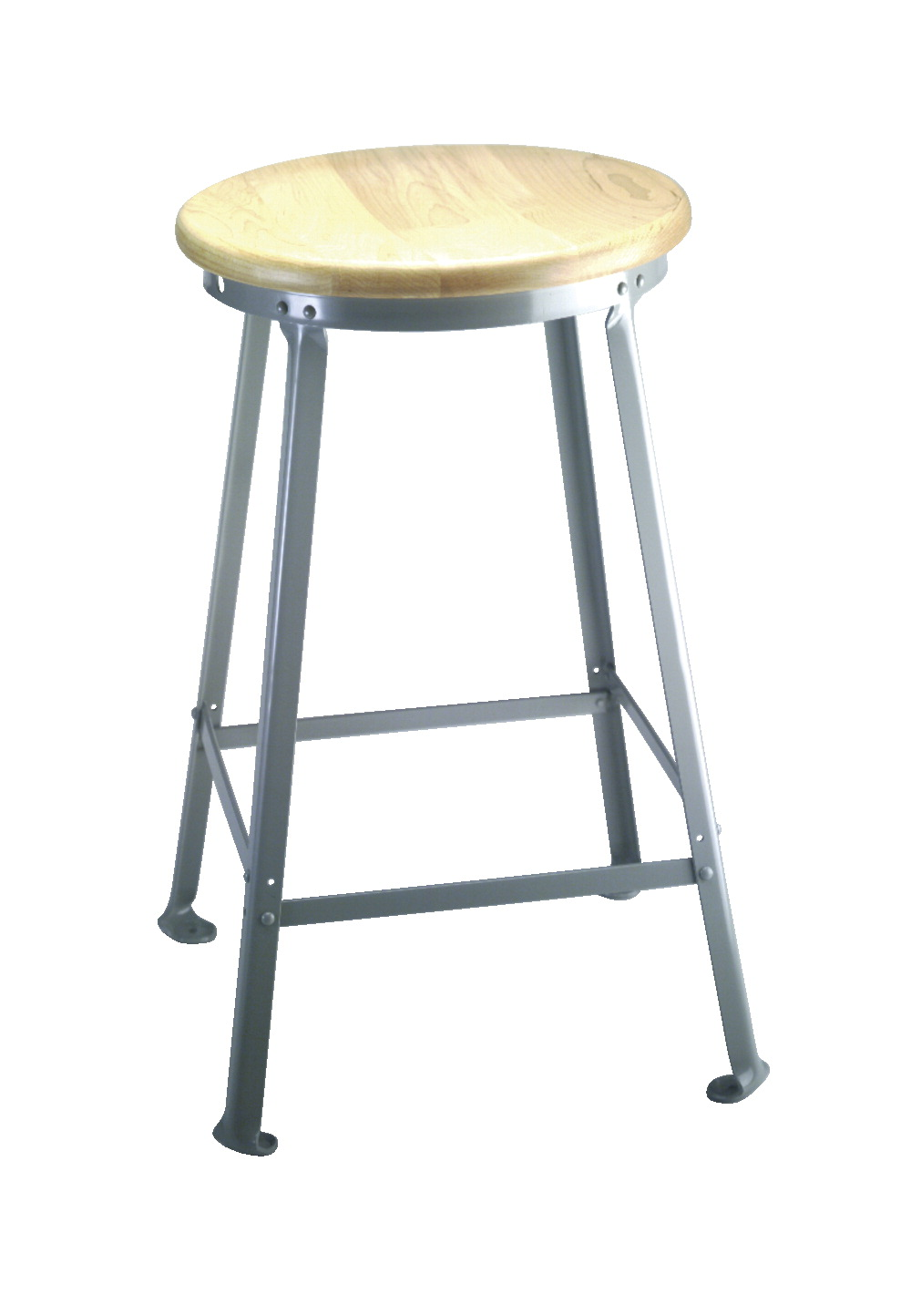 Flexible Montisa Steel Angle Leg Stool With Wood Seat 20 Inch Height Various Options