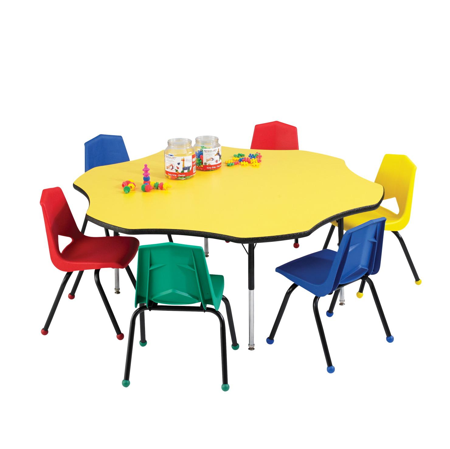 Jsp Furniture: Classroom Select LockEdge Activity Table, Flower, 60