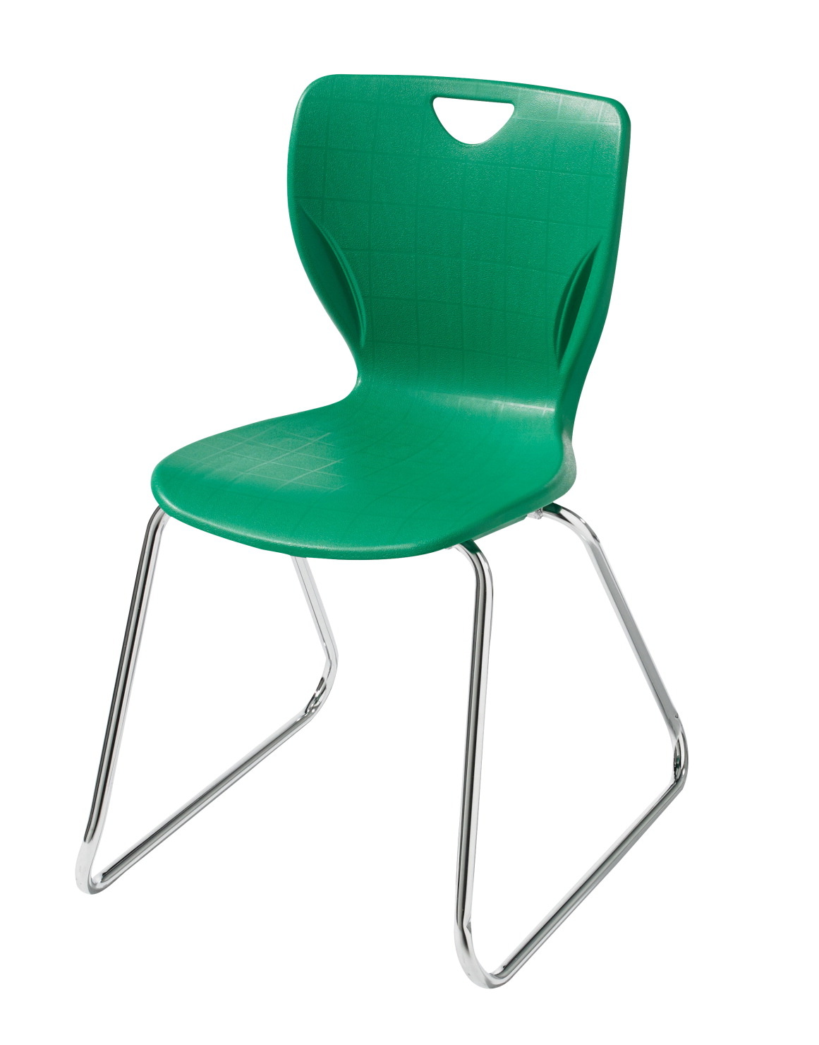 classroom select contemporary sled base chair without glides 16 in