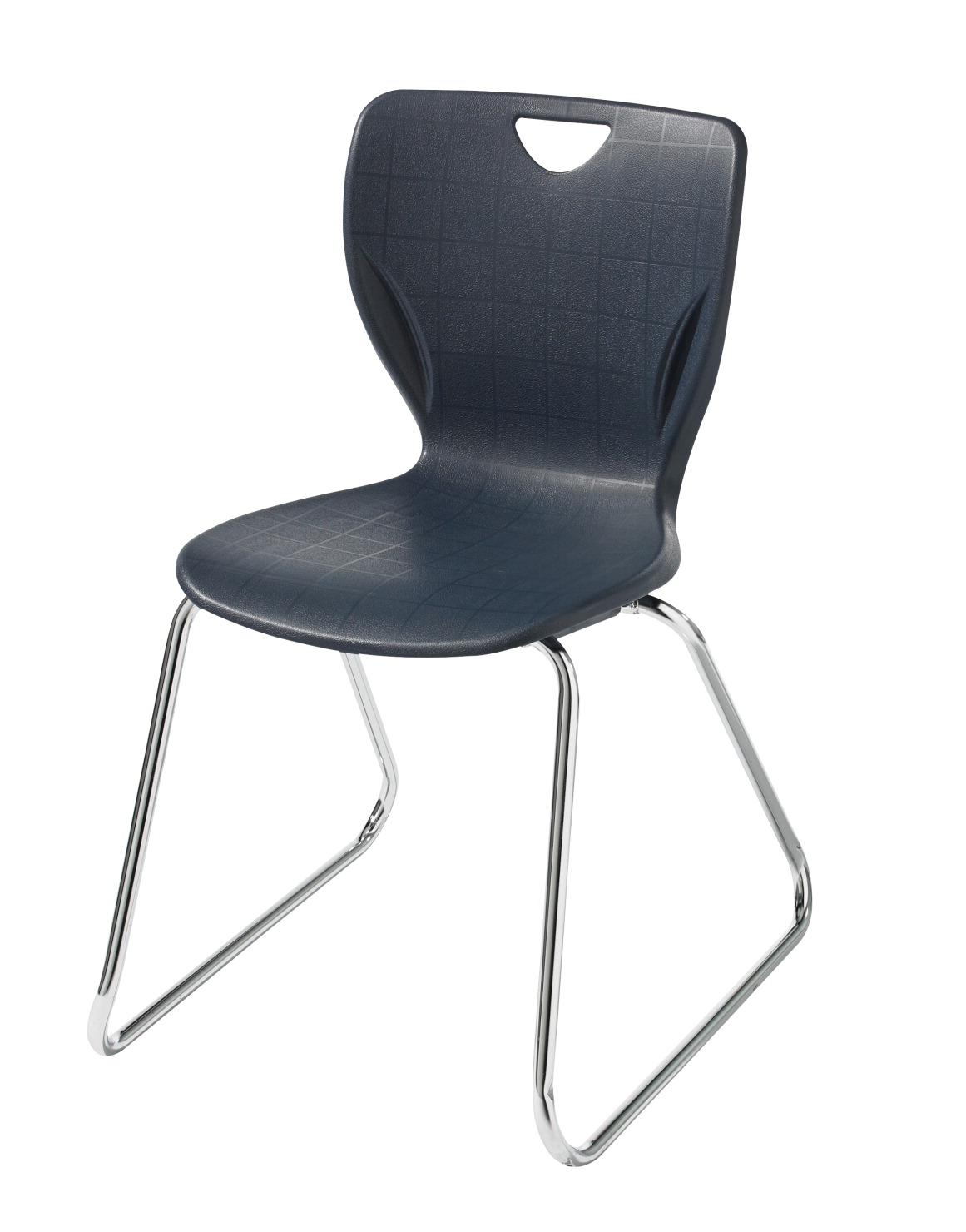 Classroom Select Contemporary Sled Base Chair, without Glides, 18 in. Seat Height, Chrome Frame
