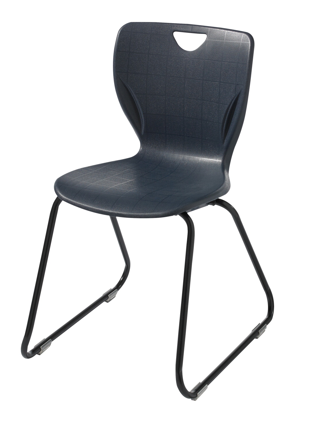 classroom select contemporary sled base chair felt glides 18 in seat