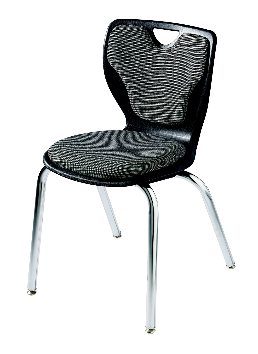 Classroom Select Contemporary Chair, Padded, 18 Inch Seat Height, Chrome Frame, Various Options