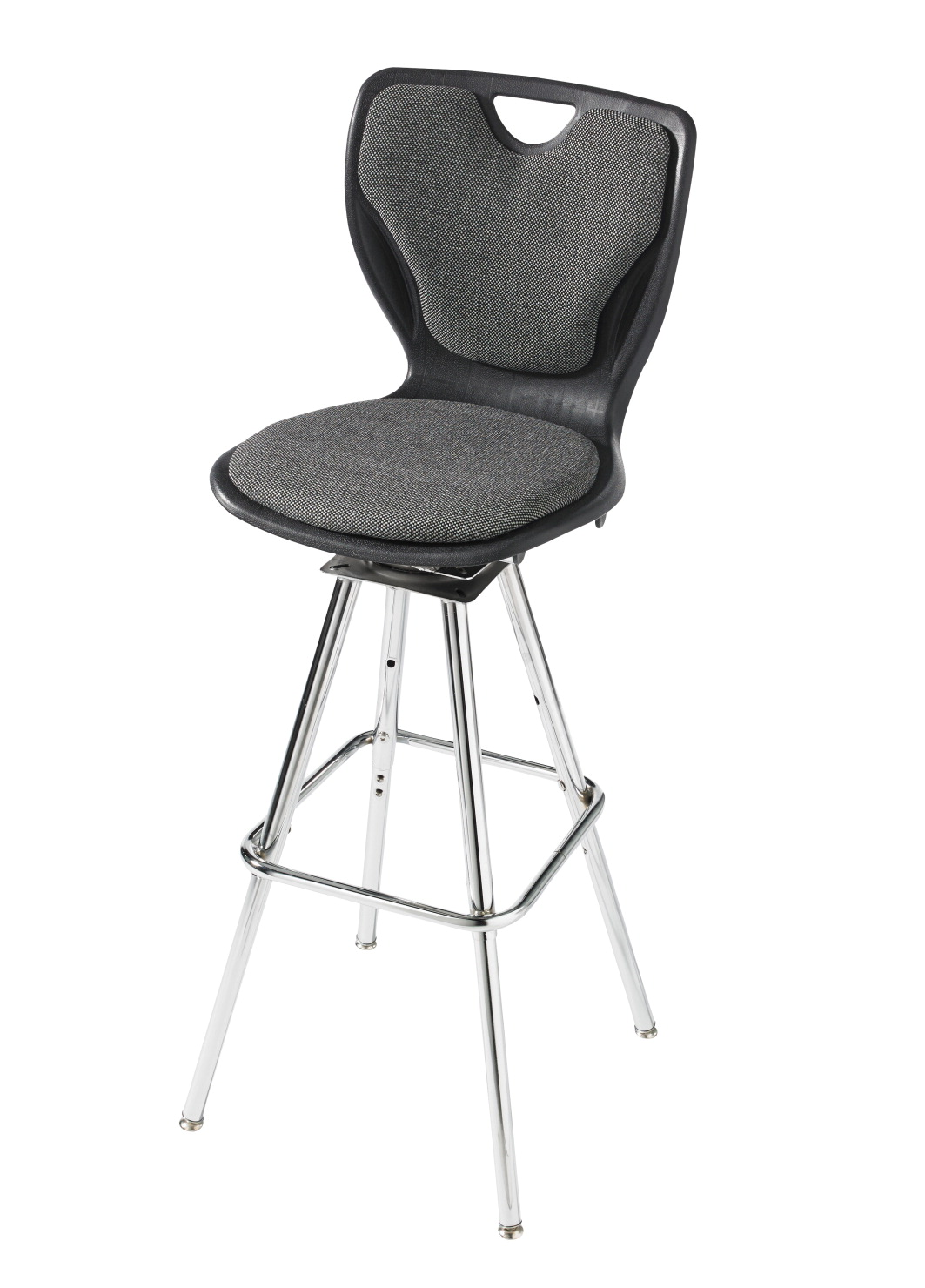 Classroom Select Contemporary Swivel Stool, Padded, Adjustable Height, A Shell, Various Options